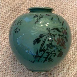 Jade colored vase